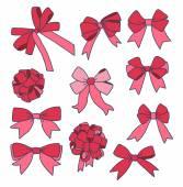 丝带和弓 — 图库矢量图片