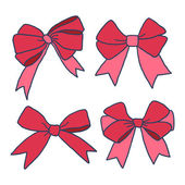 Ribbons and bows — Stock Vector