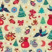Christmas pattern — ストックベクタ