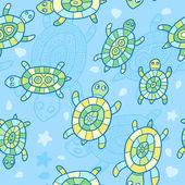 Schildpadden patroon — Stockvector