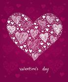 Heart decoration — Vector de stock
