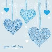 Hearts decoration — Vector de stock