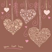 Decoração de corações — Vetorial Stock