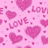 Valentine's day pattern — Wektor stockowy