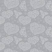 Corações e flores — Vetorial Stock