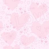 Padrão sem emenda de amor — Vetorial Stock