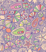 Shells pattern — Stock Vector