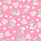 Sea shells pattern — Stock Vector