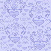 Pattern with lace hearts — Cтоковый вектор