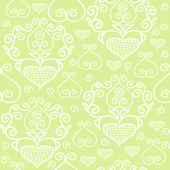 Pattern with lace hearts — Vector de stock