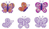 Butterflies set — Stock Vector