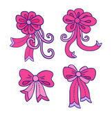 Decorative bows — Stock Vector