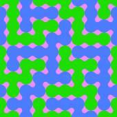 Molecular Geometric Seamless Pattern — Stock Vector