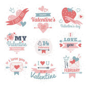 Valentine's Day Labels. — Stock Vector