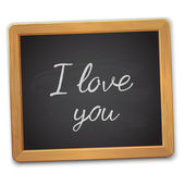 I love you  text in frame — Stock Vector