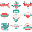 Valentine Day Labels — Stock Vector #62375395