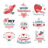 Valentine Day Labels — Stock Vector