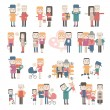 Set of vector images of couples — Stock Vector #62686529