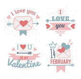 Happy valentines day and weeding design elements — Stock Vector