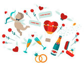 Valentine's elements for your design. — Stock Vector