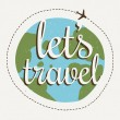 Lets go travel — Stock Vector #63872027