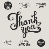 Calligraphic thank you words — Stock Vector