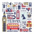 England travel set — Stock Vector #65346527