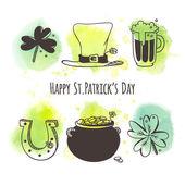 St. Patrick's Day symbol set — Stock Vector