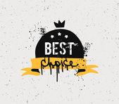 Best choice  badge — Stock Vector