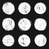 White watercolor circles — Stock Vector