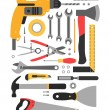 Tools icons on white — Stock Vector #68928871