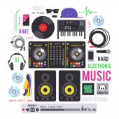 Electronic musical devices — Stock Vector