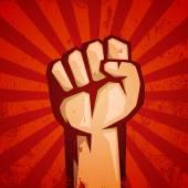 Hand Up Proletarian Revolution — Stock Vector