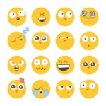 Cartoon emotional faces — Stock Vector #72810533