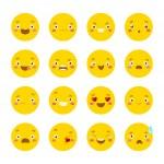 Cartoon emotional faces — Stock Vector #72810881