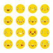 Cartoon emotional faces — Stock Vector