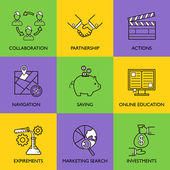 Set the startup logo — Stock Vector