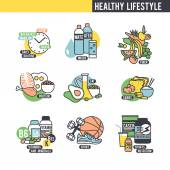 The healthy lifestyle concept. — Stock Vector