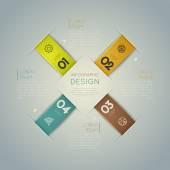 Modern spiral infographics options banner. — Stock Vector