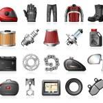 Moto Shop Icons — Stock Vector #59813073