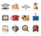 Logistics Icons — Stock Vector