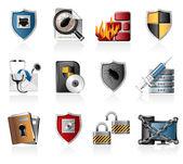 Conjunto de ícones de segurança — Vetor de Stock