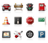 Traffic Icon Set — Stock Vector
