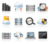 Web Hosting Icon Set — Stock Vector