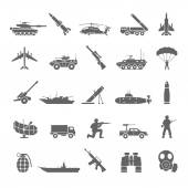 Black Icons - Army — Stockvektor