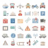 Flat Icons - Vacation — Stock Vector