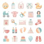 Flat Icons - Baby — Stock Vector