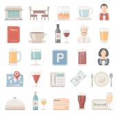 Flat Icons - Restaurant — Stock Vector