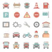 Flat Icons - Traffic — Stock Vector