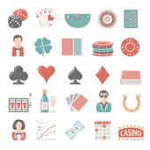 Flat Icons - Gambling — Stock Vector
